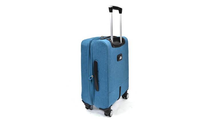 8 סט 3 מזוודות בד קשיחות למחצה Slazenger