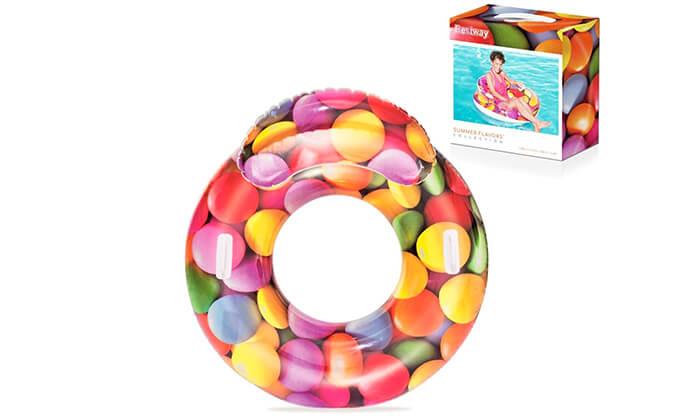 3 גלגל ים בעיצוב סוכריות צבעוניות Bestway