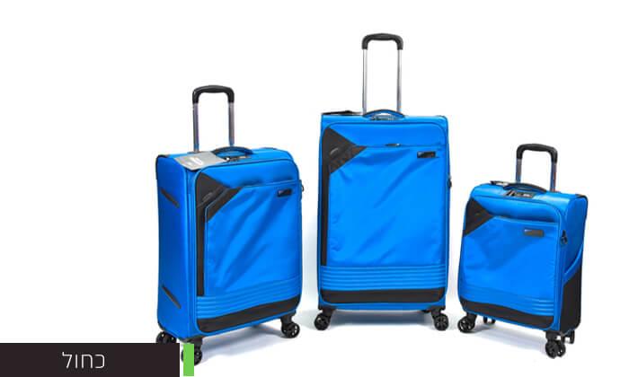 3 סט 3 מזוודות בד קלות משקל Slazenger