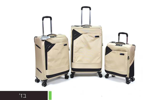 8 סט 3 מזוודות בד קלות משקל Slazenger