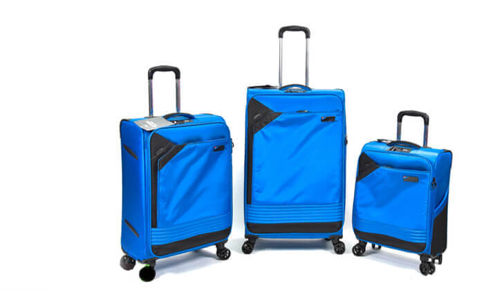 9 סט 3 מזוודות בד קלות משקל Slazenger