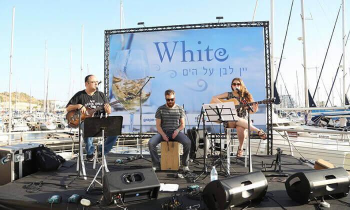 4 כרטיס לפסטיבל היין White, מרינה הרצליה