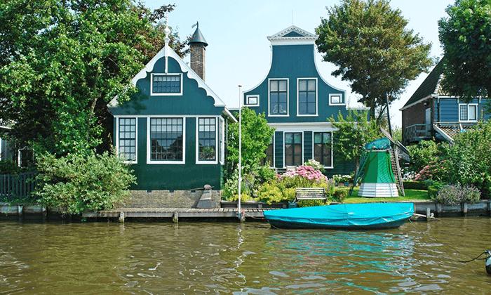 3 טיול יום מאמסטרדם בארץ המים, כפרי הדייגים וטחנות רוח