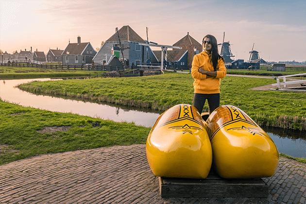 2 טיול יום מאמסטרדם בארץ המים, כפרי הדייגים וטחנות רוח