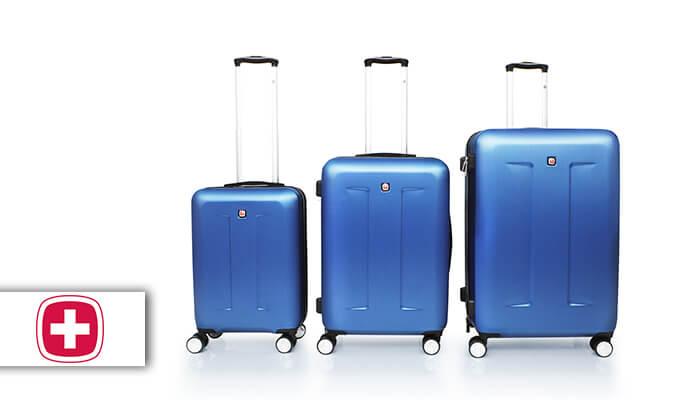 2 מחיר מיוחד לזמן מוגבל: סט 3 מזוודות קשיחות סוויס SWISS