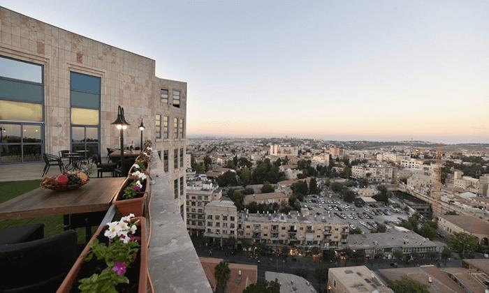 "11 My jerusalem view - מלון יוקרה בלב ירושלים, כולל סופ""ש"