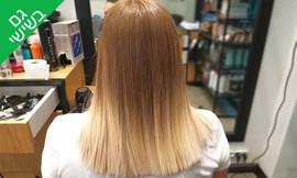 החלקת שיער בקליניקת אל היופי