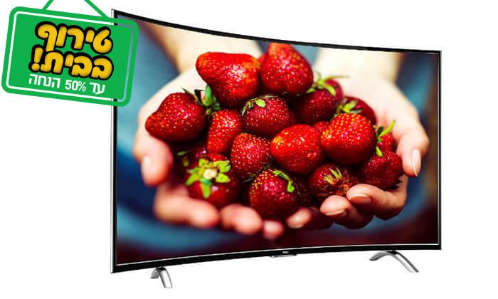 2 טלוויזיה קעורה חכמה TCL, מסך 48 אינץ'