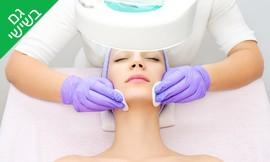טיפול פנים עם מכשור במרכז טופז