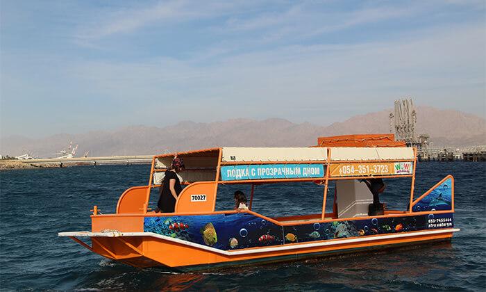 3 סיור ימי קבוצתי בספינת זכוכית עם המפלט הדרומי, אילת