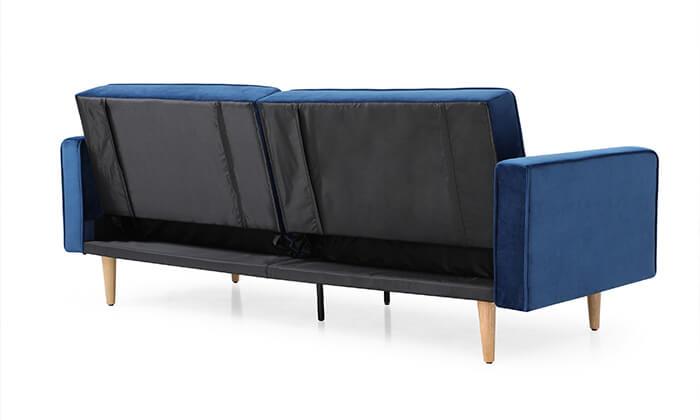 8 ספת אירוח תלת-מושבית נפתחת למיטה