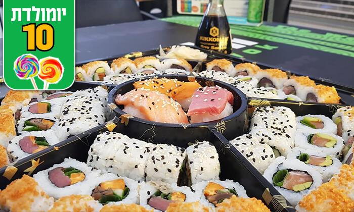 5 מגש סושי במסעדת טוגראשי הכשרה, סניף מתחם BIG אילת