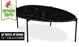 שולחן שיש אובלי לסלון