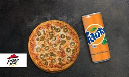 פיצה האט או זיוה עם שתייה