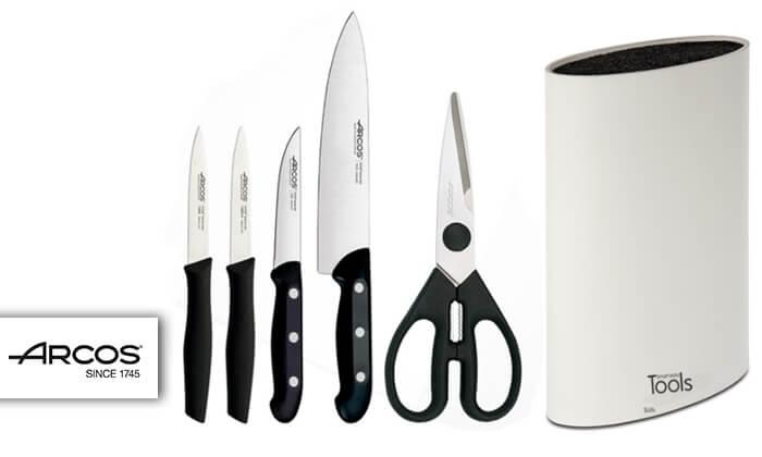 2 מארז סכינים ARCOS במעמד TOOLS