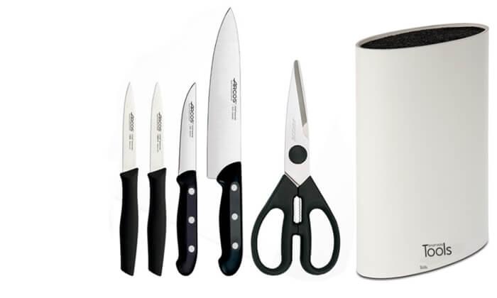 3 מארז סכינים ARCOS במעמד TOOLS