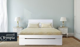 מיטה זוגית מעץ עם מזרן