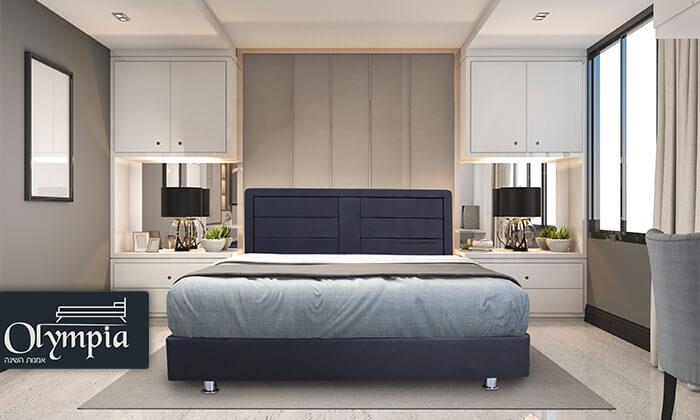 2 אולימפיה: מיטה מעץ עם מזרן