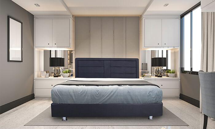 4 אולימפיה: מיטה מעץ עם מזרן