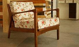 כורסא וספות בעיצוב רטרו