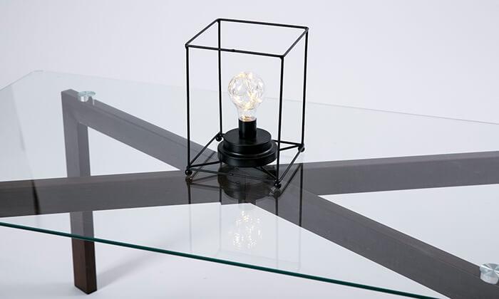 3 שולחן סלון מלבני מזכוכית