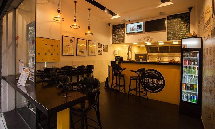 6 צ'יפס ושתייה באמסטרדם פרייז, תל אביב
