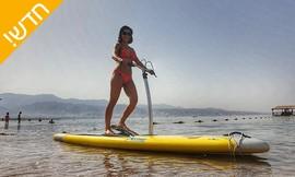 גלישה על סטפר סאפ בחוף נביעות