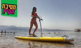 גלישה על סאפ סקי בחוף נביעות