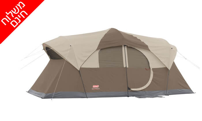 2 אוהל ל-10 אנשים Coleman - משלוח חינם