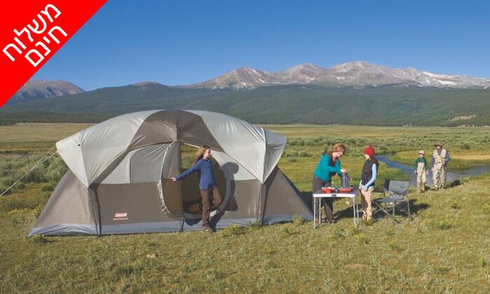 3 אוהל ל-10 אנשים Coleman - משלוח חינם