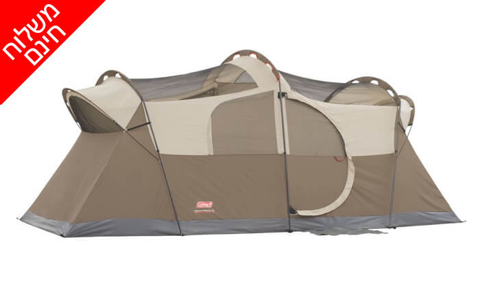 4 אוהל ל-10 אנשים Coleman - משלוח חינם