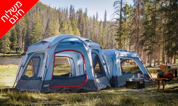 3 אוהל ל-3 אנשים Coleman - משלוח חינם