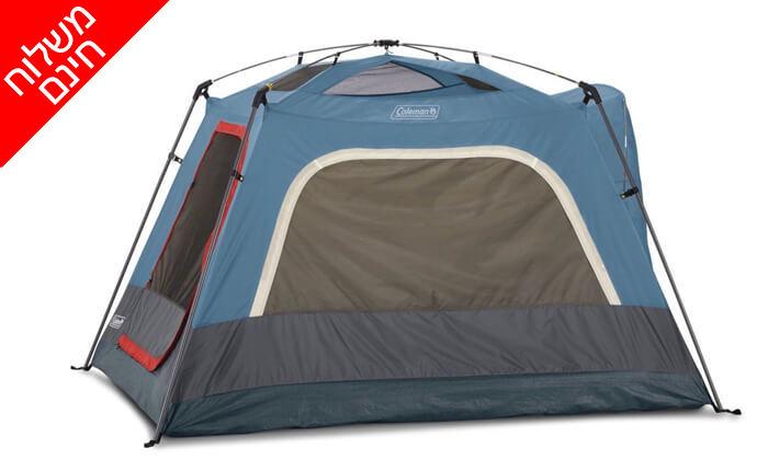 6 אוהל ל-3 אנשים Coleman - משלוח חינם