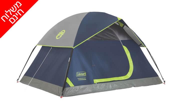 3 אוהל ל-2 אנשים Coleman - משלוח חינם