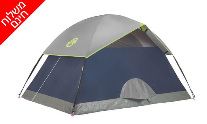 6 אוהל ל-2 אנשים Coleman - משלוח חינם