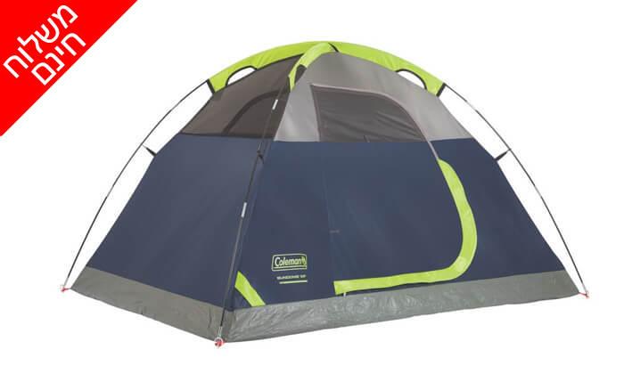 2 אוהל ל-2 אנשים Coleman - משלוח חינם