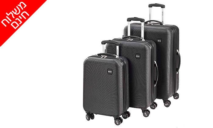 5 סט 3 מזוודות SWISS GLOBAL BAGS - משלוח חינם