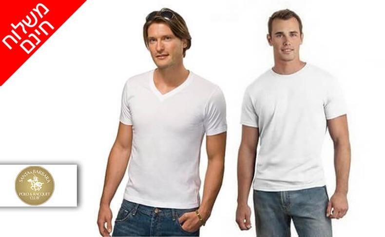 שמונה חולצות טי לגברים