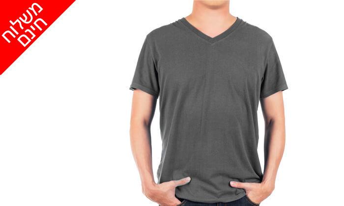2 מארז 4 חולצות טי לגברים Fruit of the Loom - משלוח חינם