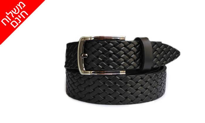 2 חגורת עור שחורה EMPORIO ALBERTINI