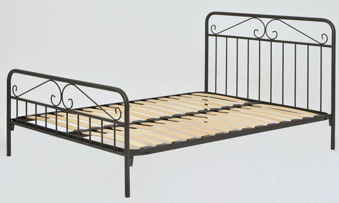 3 מיטה זוגית ממתכת BRADEX