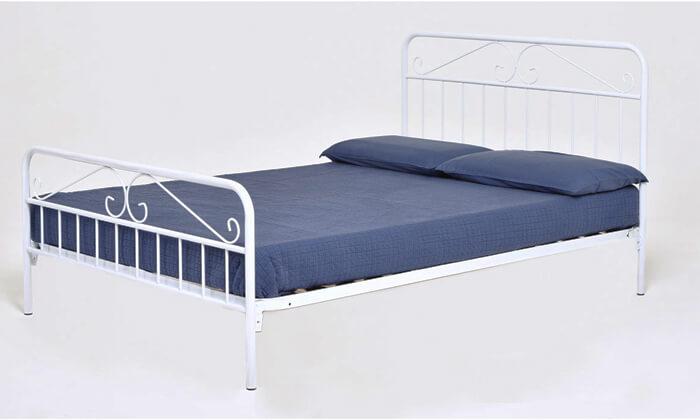 4 מיטה זוגית ממתכת BRADEX