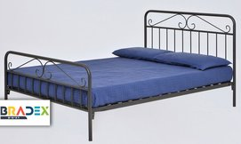 מיטה זוגית ממתכת BRADEX