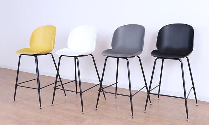 2 כסא בר מעוצב לבן