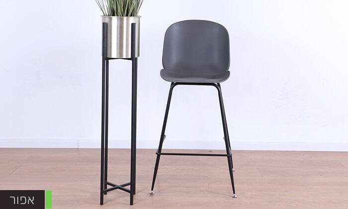 5 כסא בר מעוצב לבן