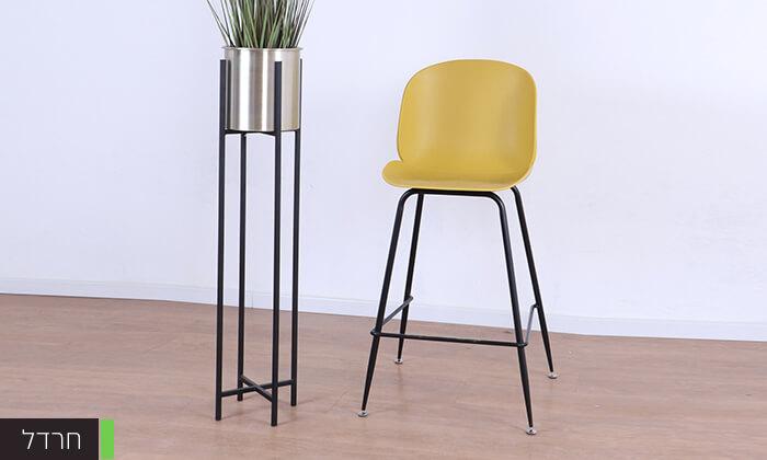 3 כסא בר מעוצב לבן
