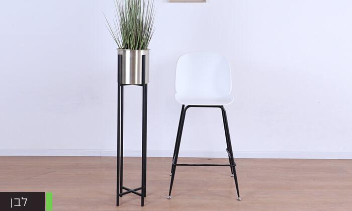 4 כסא בר מעוצב לבן
