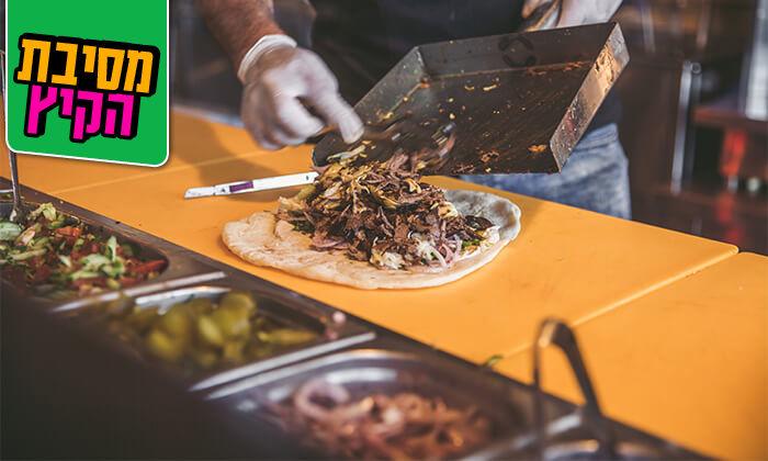 3 ארוחה בשרית כשרה במסעדת 'השמן - פינוק בפיתה', אזור התעשייה רחובות