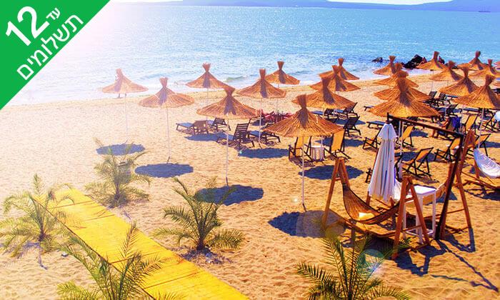 """2 אוגוסט בבורגס - מלון מומלץ עם קזינו על חוף הים בסאני ביץ', כולל סופ""""ש"""