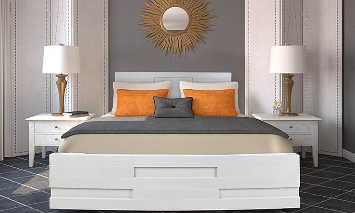 4 אולימפיה: מיטה מעץ עם מזרן אורתופדי